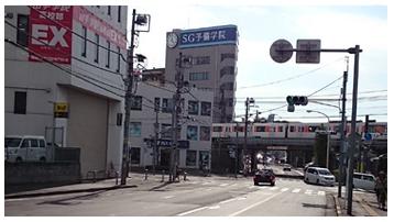 本川越駅方面から車でのアクセス1